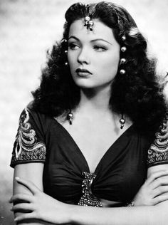 """Gene Tierney: """"Cars, furs, and gems were not my weaknesses. Hollywood Fashion, Vintage Hollywood, Old Hollywood Stars, Old Hollywood Glamour, Golden Age Of Hollywood, Classic Hollywood, Old Hollywood Actresses, Classic Actresses, Beautiful Actresses"""
