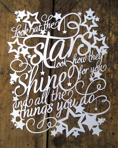 Free Paper Cut Template - Stars Can't Shine Without Darkness by ...