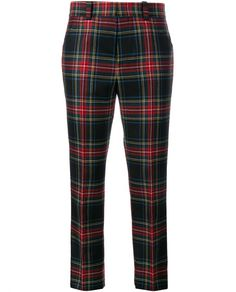 GUCCI | Tartan Wool Cropped Trousers