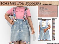 Custom contents for The Sims 4 Toddler Cc Sims 4, Sims 4 Toddler Clothes, Sims 4 Mods Clothes, Sims 4 Cc Kids Clothing, Toddler Outfits, Kids Outfits, Boy Clothing, Toddler Fashion, Toddler Girls