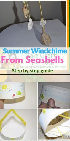 How to make a summer wind chime from seashells. Seashell Wind Chimes, Wind Chimes Craft, Summer Crafts For Kids, Seashells, Diy And Crafts, Crafty, Blog, Tinkerbell, Shells