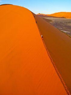 Rising Sun AutoKAP on Dune 45 in Sossusvlei, Namib Desert Namibia by Pierre Lesage, via Flickr