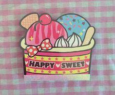 Kamio Japan Happy Sweet Ice cream Memo pad Rare