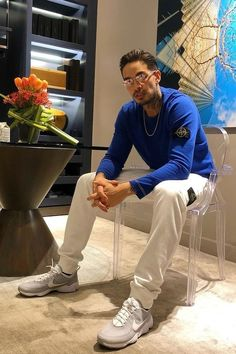 Shop the Look from Sawyer Roads on ShopStyle - Levi Bent-Lee: Stone Island Sweater and Pants Cotton Jumper, New York Mens, Stone Island, Stylish Men, Celebrity Style, Street Wear, Fashion Looks, Menswear, Celebs