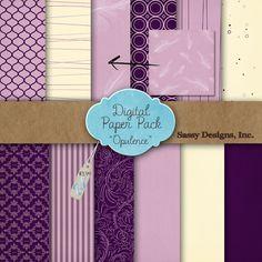 Opulence Digital Paper Pack  #EasyNip