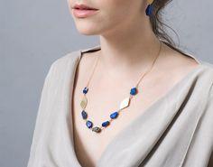 Blue Lapis Necklace , Lapis Statement Necklace by CONTOURstudio on Etsy https://www.etsy.com/listing/184585236/blue-lapis-necklace-lapis-statement