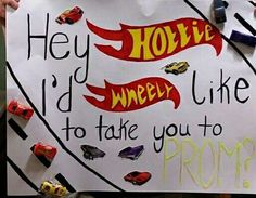 My bf is into cars, so i asked him to prom like this. #cute #nailedit