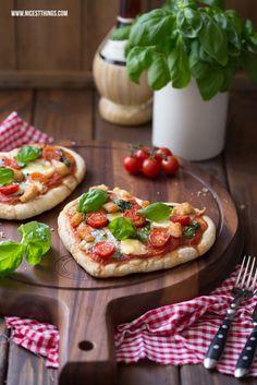Pizza in Herzform mit Géramont und Hähnchen - zum Valentinstag im Februar