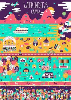 Weekenders Camp on Behancehttps://www.behance.net/gallery/29319859/Weekenders-Camp