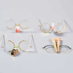 """On the Tip of Your Nose by Dana Benshalom  """"This series of eyeglasses examines the complex relationship between eyeglasses and the nose. It focuses on the finger sliding up the nose to reposition the eyeglasses that repeatedly insist on sliding down – the typical hand movement, the simple gesture that distinguishes people who wear glasses"""
