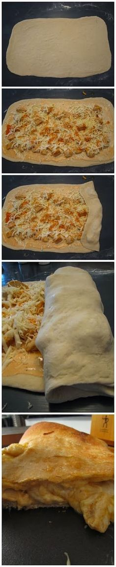 Easy buffalo chicken garbage bread.