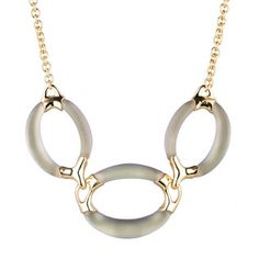 Alexis Bittar gold 3 link necklace