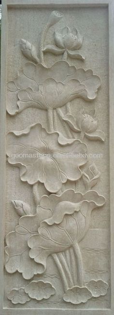 relief murals peony - Google Search
