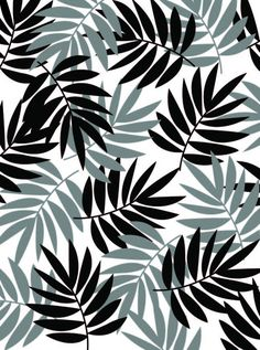 Black Palm Patterns And Pretty Things Pattern Prints White