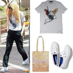 140711 Krystal at KBS Building Givenchy 2012 Birds Of Paradise T-shirt Unknown…