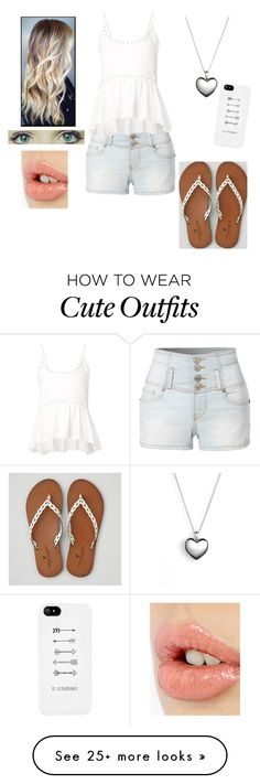 """""""Pretty Beach Outfit #2"""" by mimi-minecrafter on Polyvore featuring LE3NO, Rebecca Minkoff, American Eagle Outfitters, Pandora and Charlotte Tilbury"""