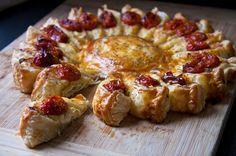 Soleil feuilleté poulet rôti, mascarpone,parmesan,tomates cerises