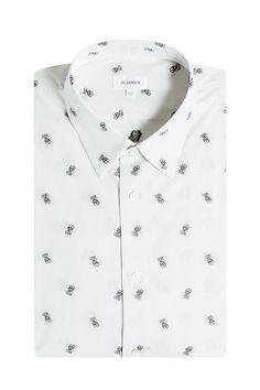 JIL SANDER Printed Cotton Shirt. #jilsander #cloth #