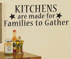 Vinyl Wall Sticker Art Decor Inspirational Decal Quote Kitchen Family KI37. $22.97, via Etsy.