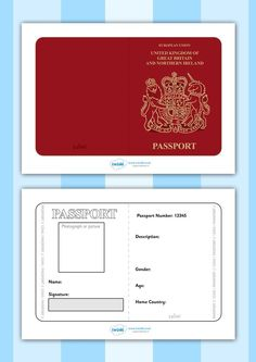 Critical image within free printable passport template
