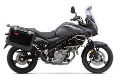 Suzuki DL650 V-Strom 650 ABS (2013)   Engine size: 645cc  Power: 68bhp  Top speed: 120mph  Weight: 214kg  Average fuel consumption: 45.3mpg