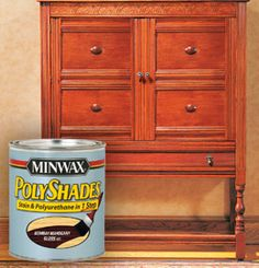Saw this product on a DIY segment on TV. Looks super easy for finishing or refinishing wood. Polyurethane included so it's just one step.