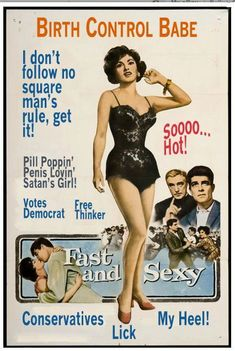 """mirahxox: """" fallinassbutt: """" lolbatty: """" i literally cannot decide if this is negative propaganda or not lol """" Pill Poppin' Penis Lovin' Satan's Girl! I need this on a tshirt """" pill poppin' penis. Good Girl, Up Girl, Old Poster, Man Rules, Pin Up Vintage, Vintage Woman, Vintage Beauty, Vintage Style, Youre My Person"""