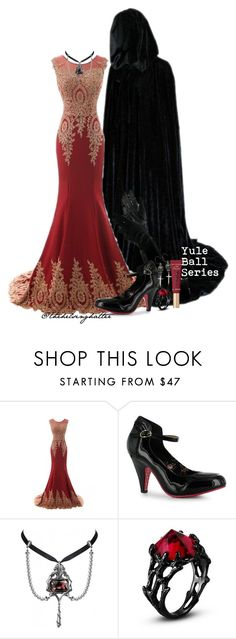 """Yule Ball Series: Roaring Minds"" by thehelsinghatter ❤ liked on Polyvore featuring Femme Metale and Too Faced Cosmetics"
