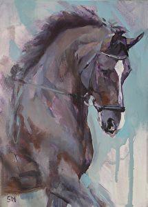 Valegroi Impressions V by Sally Martin Oil ~ 7inch x 5inch