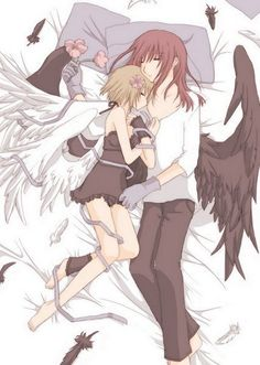 Anime Couple Sleeping | anime angels couples | Flickr - Photo Sharing!