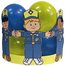 Blue and Gold Scout Friends Centerpiece