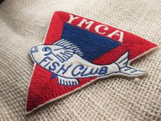 Vintage 1940's YMCA Fish Club Patch by UncleJimmysAttic on Etsy