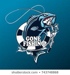 fish fishing hunting bass jumping truck car window vinyl decal stickers