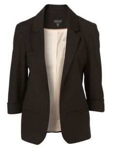 And add this black blazer to the little black & white dress .... (Uhhhhh no         J Crew boob-cinched cardigans)