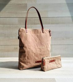 206296306dfc SALE - Waxed Canvas Tote Bag