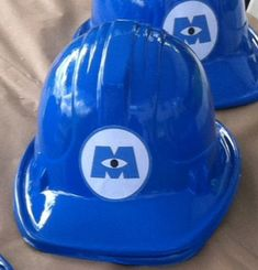 Plastic monsters inc. and monsters university scaring assistant helmets/hats for birthday parties (s