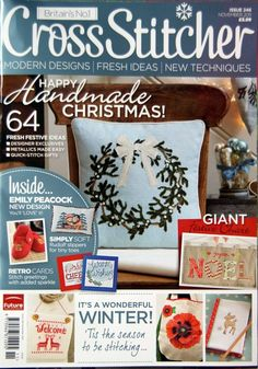 CrossStitcher Magazine - lush covers and projects! Cross Stitch Tree, Cross Stitch Bookmarks, Cross Stitch Books, Beaded Cross Stitch, Cross Stitch Embroidery, Embroidery Books, Christmas Makes, Christmas Books, Xmas