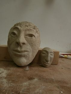 SherLizz: Stylistic faces in the making Summer 2014 - drying stage.