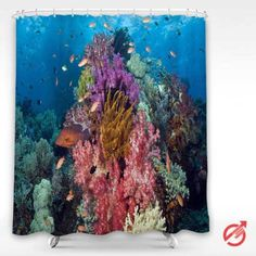 Cheap Underwater Tropical Fish Shower Curtain