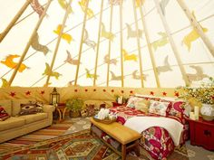 Rustic chic doesn't come cheap. The all-inclusive nightly rate for a tepee for two is $1,000.
