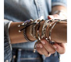 Fiji Bracelet Sterling Silver Love | Monica Vinader
