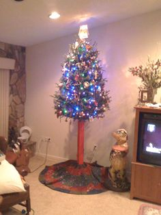 Toddler proof Tree; hilarious!