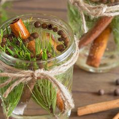 Cinnamon and Pine Fragrance Jar