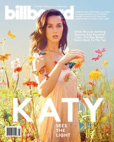 Katy Perry covers the upcoming issue of Billboard magazine to promote her PRISM album.
