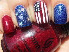 Patriotic nails :)
