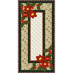 Holiday Table Runner.  Full pattern and materials list.  Can be adjusted to make table placemats in addition to the table runner