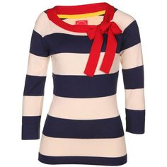 Joules Women's Lainey Navy Blue Nautical Jumper (330 NOK) ❤ liked on Polyvore featuring tops, sweaters, shirts, blusas, long sleeves, navy striped shirt, striped sweater, blue striped shirt, navy blue sweater and blue sweater