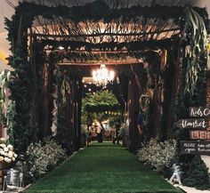 Rustic wedding indoor surabaya indonesia by ig raindropsdeco wedding reception surabaya indonesia decoration rustic greenery junglespirit Gallery
