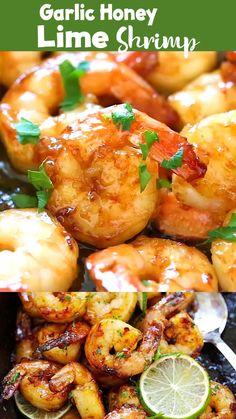 Easy Grilled Shrimp Recipes, Shrimp Recipes For Dinner, Salmon Recipes, Fish Recipes, Seafood Recipes, Asian Recipes, Shrimp Dishes, Fish Dishes, Deserts