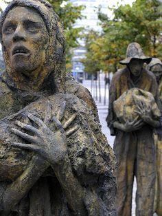 Dublin, Ireland - Potato famine statues.